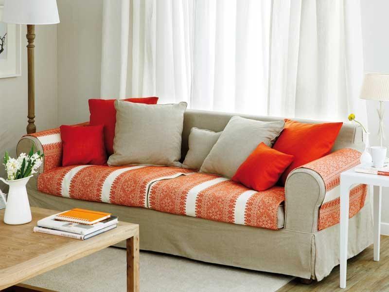 Una funda muy sencilla para renovar el sof casa - Tapizar cojines sofa ...