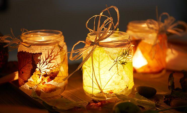 Herbstliche Windlichter - DIY