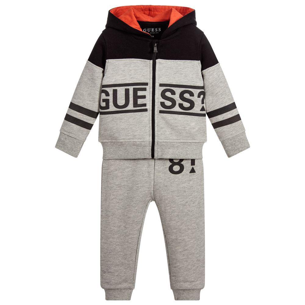 9093e24939d0 brand Boys Grey Cotton Tracksuit at Childrensalon.com