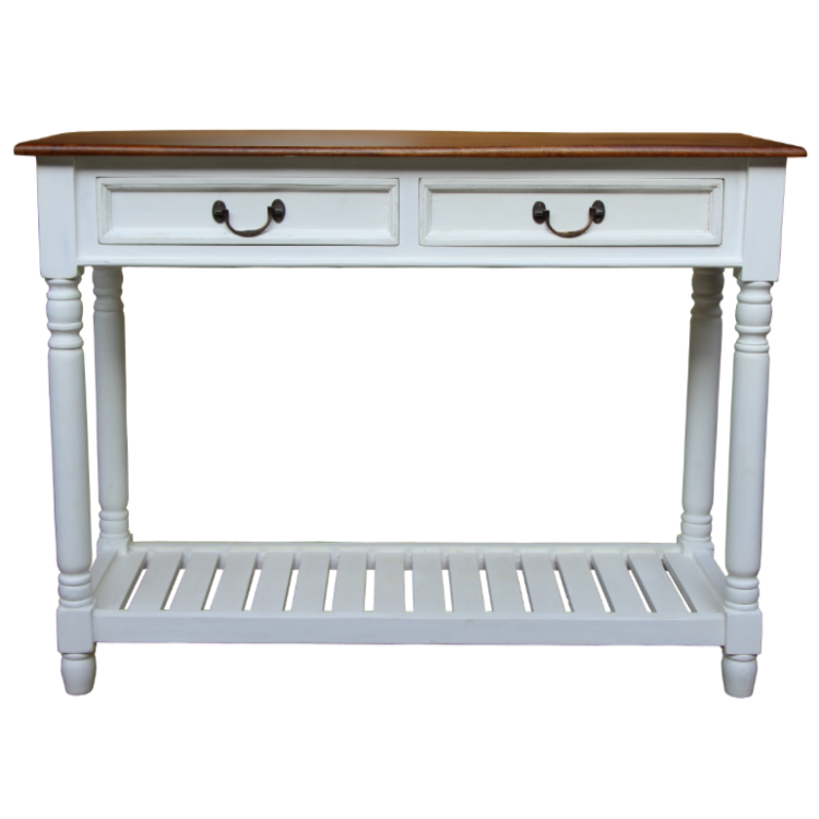 French Style Console Table   White
