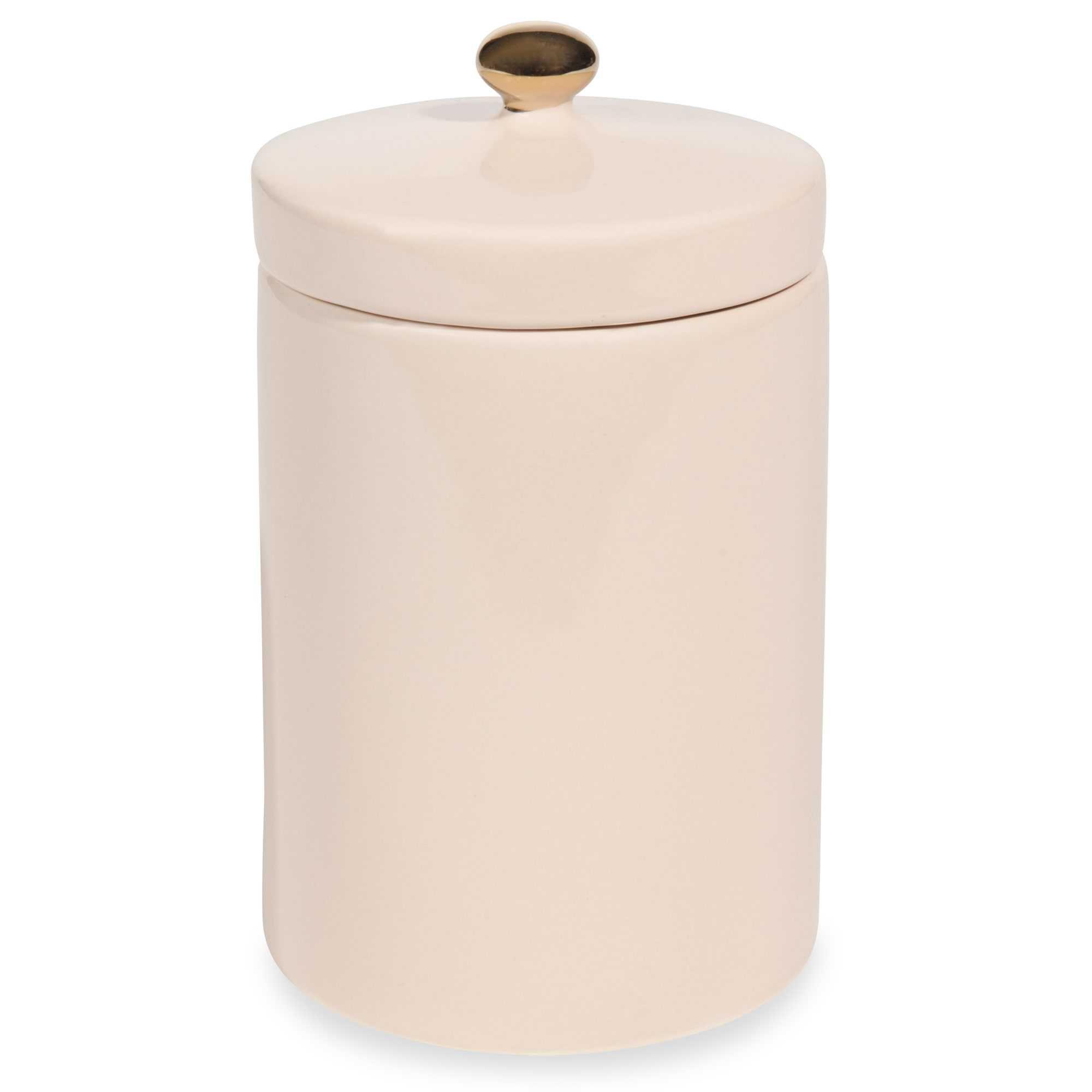 Pot en faïence rose pâle H.14cm GARDEN