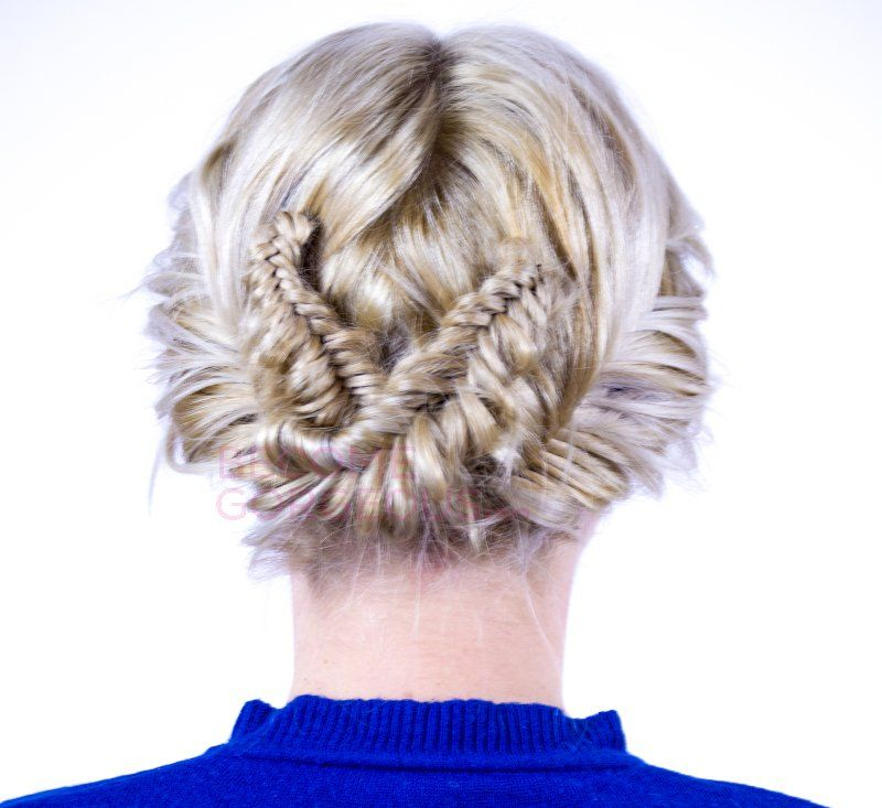 Add a stylish touch to your updos and try this double fishtail braid updo tutorial!