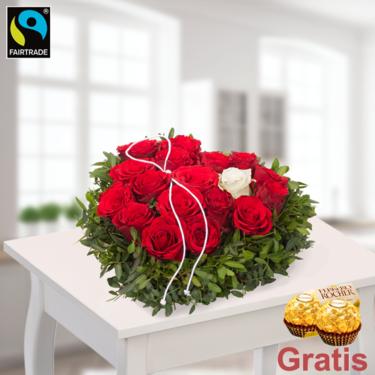 Blumen Zum Valentinstag Verschicken Mit Grusskarte Floraprima De Grusskarte Valentinstag Blumen