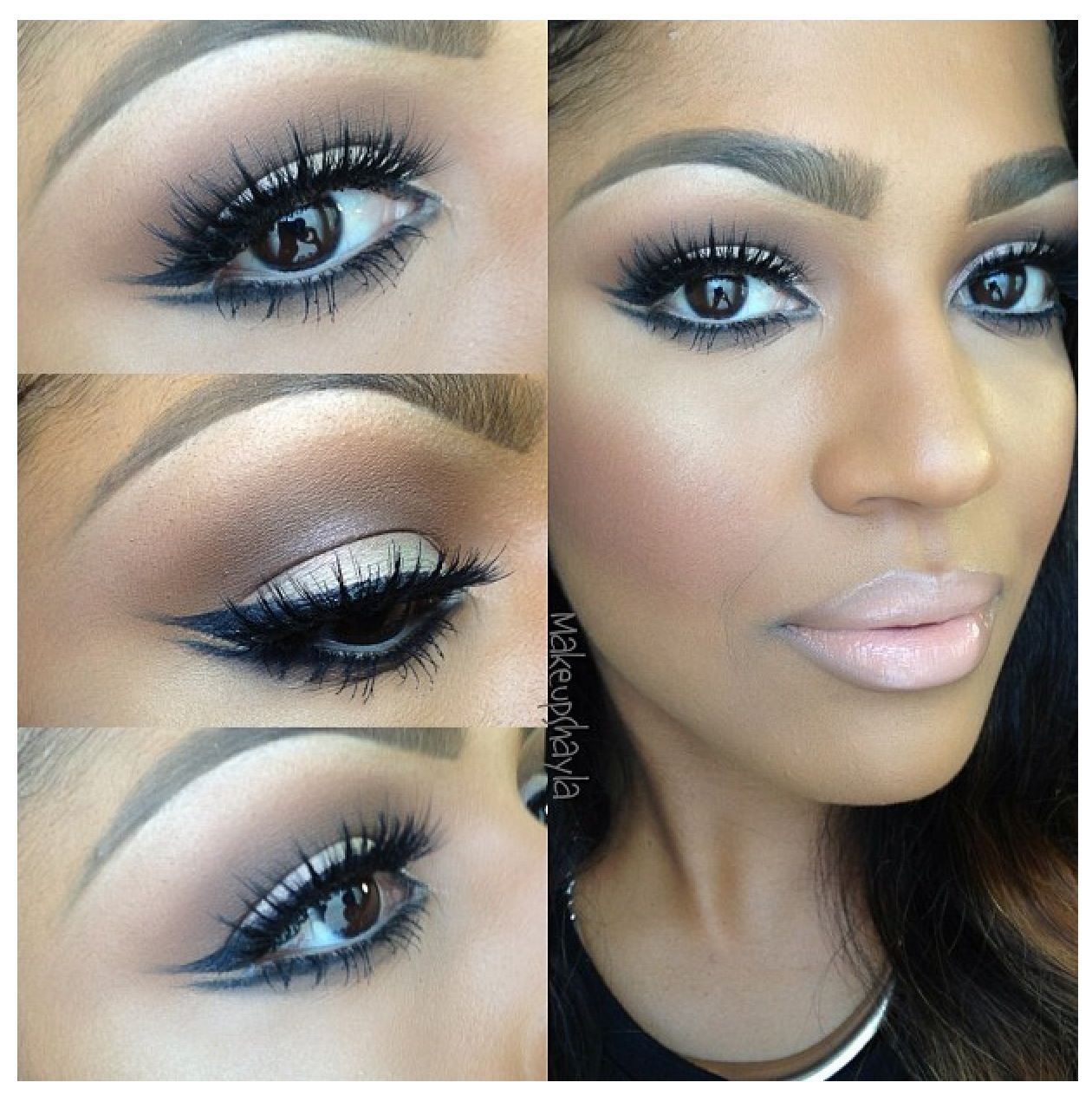 Simple and edgy eyeliner/shadow technique.   Maquillaje y ...