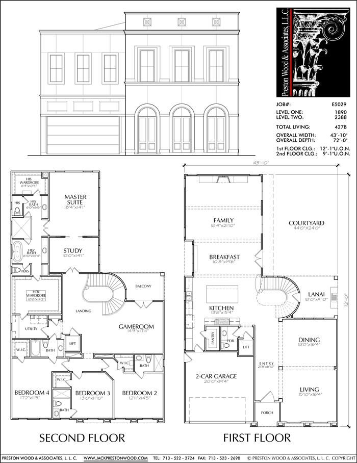 Two story custom house plan new home designers stock floor plans onl  preston wood associates also rh pinterest