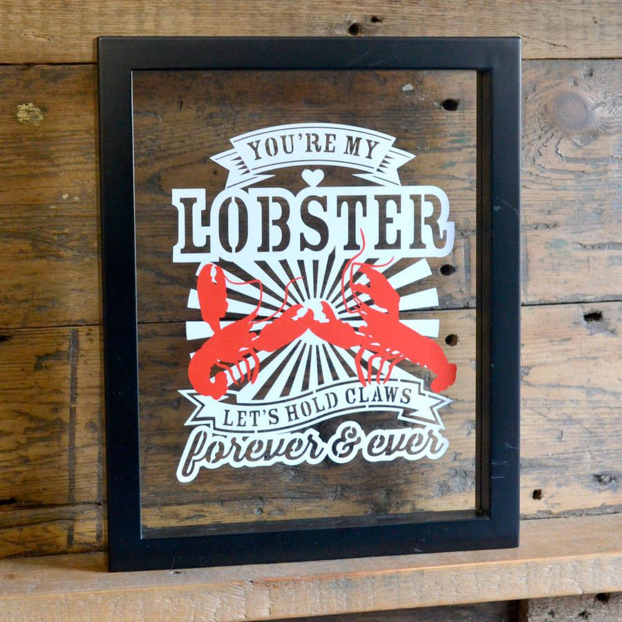 'You're My Lobster' Open Edition Papercut from £22