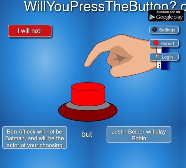 Well dang.... Decisions decisions..... | Buttons, Press ...