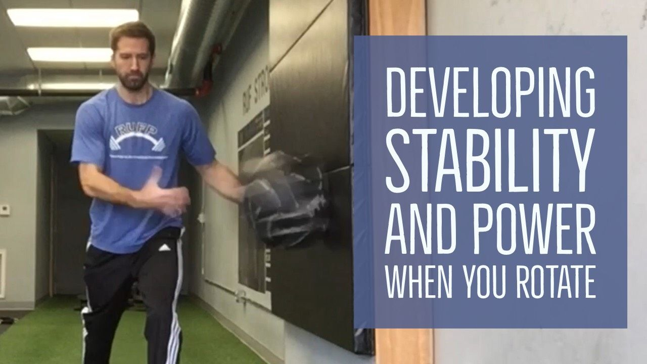 Earning the Right to Rotate Medicine ball workout