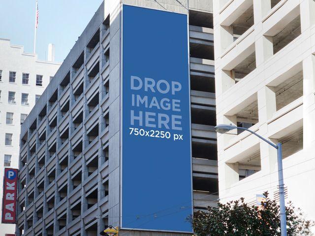 Placeit Banner Mockup On A Building Building Mockup Billboard Mockup