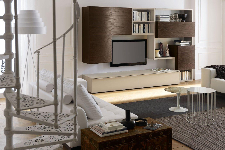Arredamento zona living living 583 ideale per arredare un soggiorno dallo stile contemporaneo - Mobili stile contemporaneo moderno ...