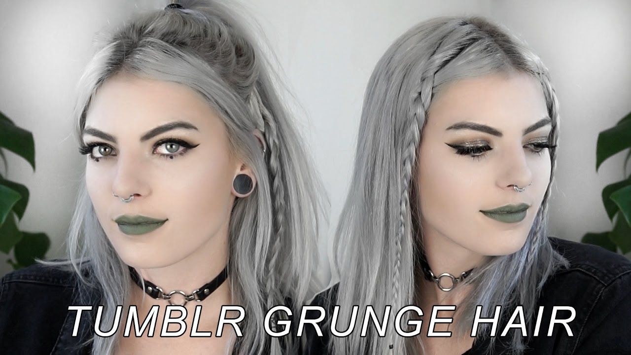 4 Grunge Hairstyles Cute Easy Youtube Medium Hair Styles Grunge Hair Diy Hairstyles