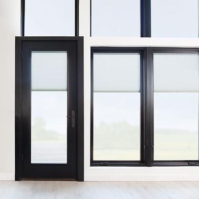 Black Wood Single Hinged Patio Door Pella Lifestyle Series Hinged Patio Doors Patio Doors Pella
