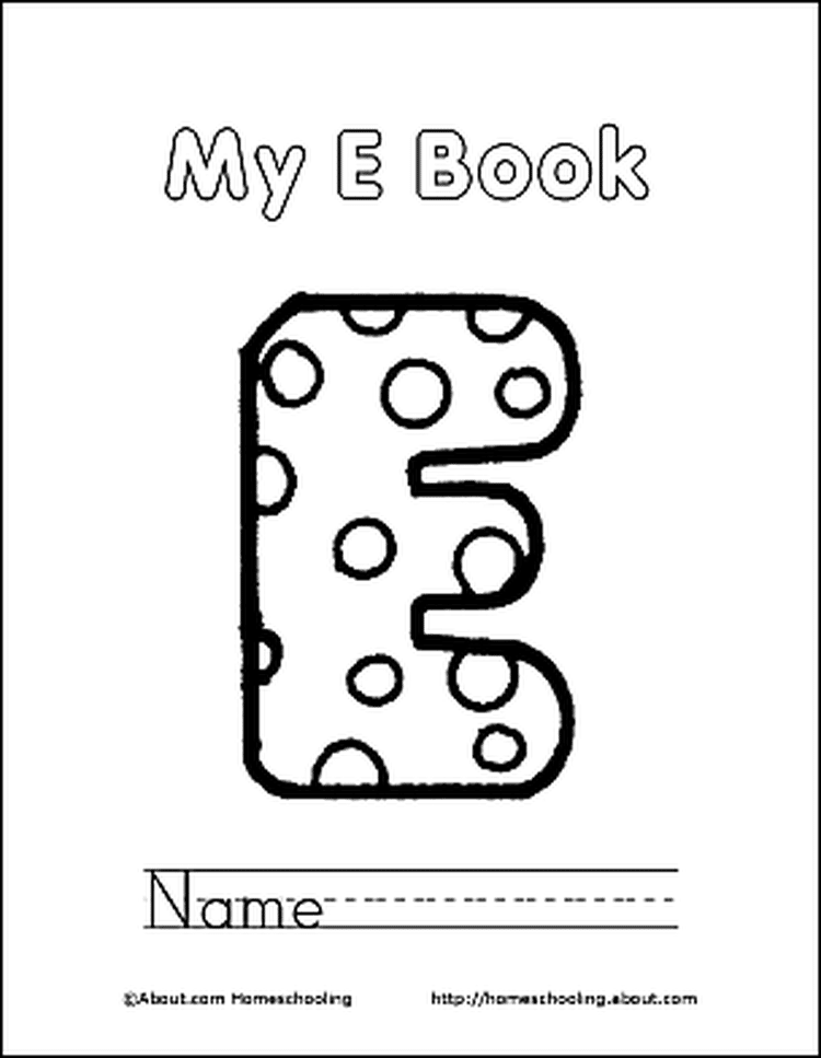 Letter E Coloring Book - Free Printable Pages | Coloring books, Free ...