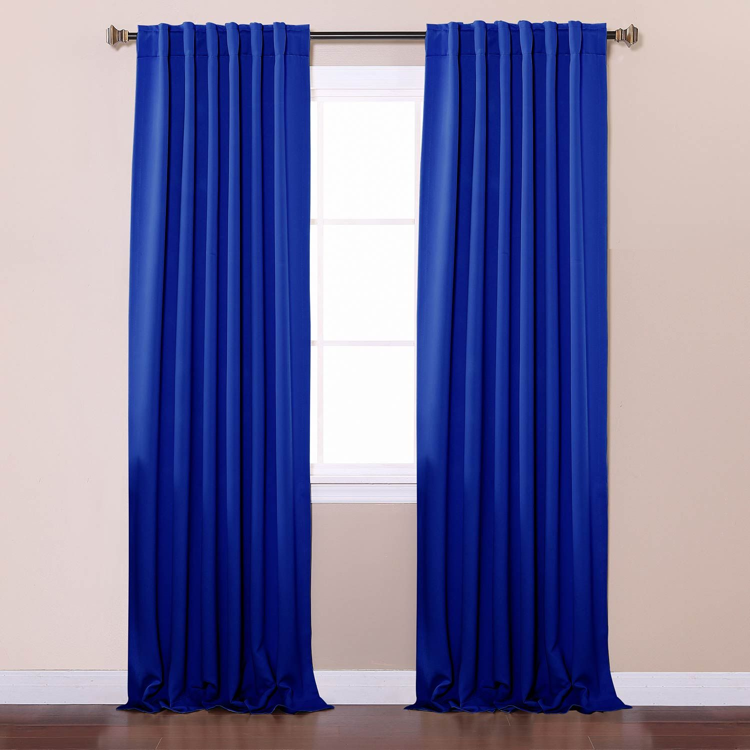 Rose Street Royal Blue 108 X 52 In Curtain Panel Solid 108 Royal
