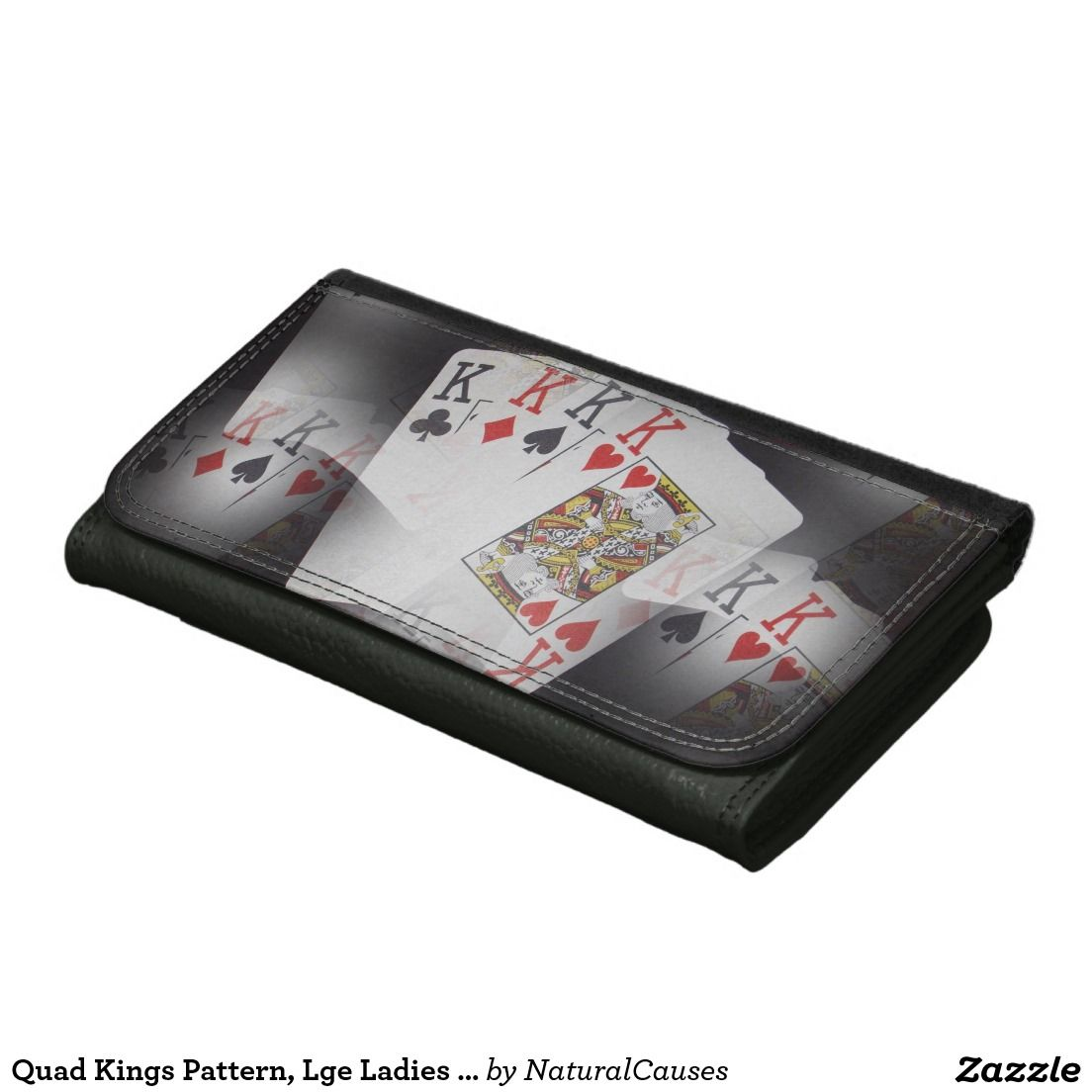Quad Kings Pattern, Lge Ladies Leather Wallet