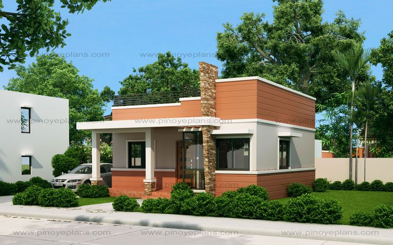 Rommell One Storey Modern With Roof Deck Flat Roof House