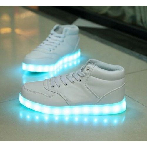 premium selection f6b8f 274e0 Zapatillas Con Luces Hombre Altos Blanco