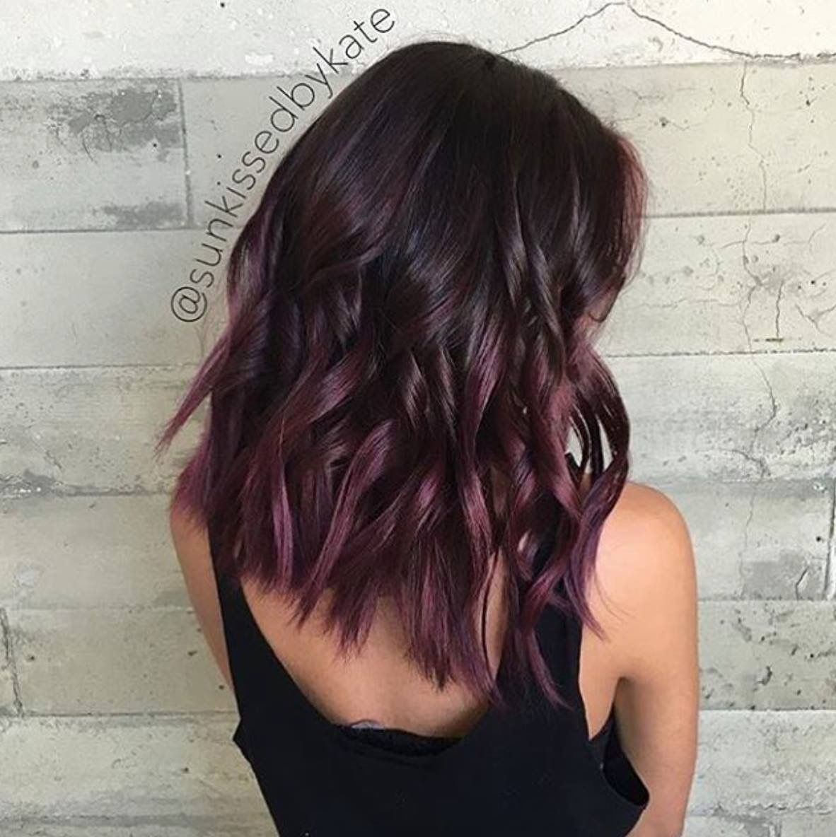 Love the color Hair colors Pinterest Balayage Chocolate and Dark