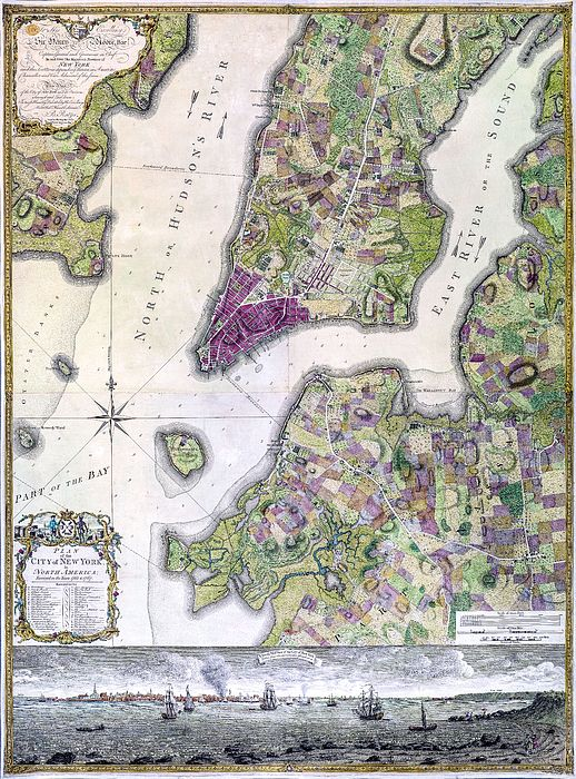 Plan Of Manhattan New York 1766 Map Of New York Map Antique Maps