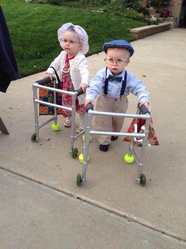 Toddler halloween costume  Old man and women  | Halloween in