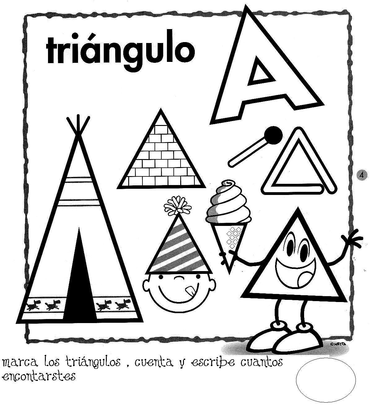 Resultado de imagen para triangulo y sus figuras para colorear ...