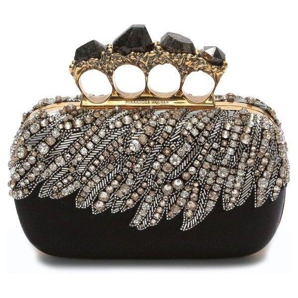 598a11017d70 Women s Alexander Mcqueen Eagle Wing Knuckle Box Clutch ( 2