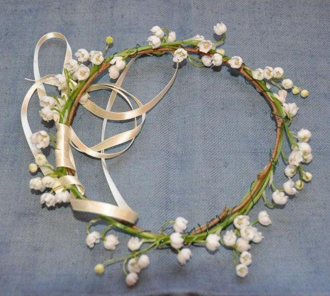 Cmo hacer una tiara de flores How to make a flower tiara Mis