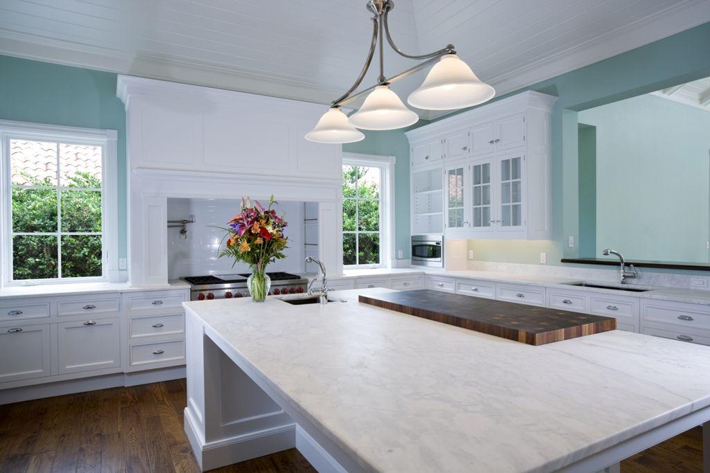 White Carrera Marble Countertop Kitchens Google Search