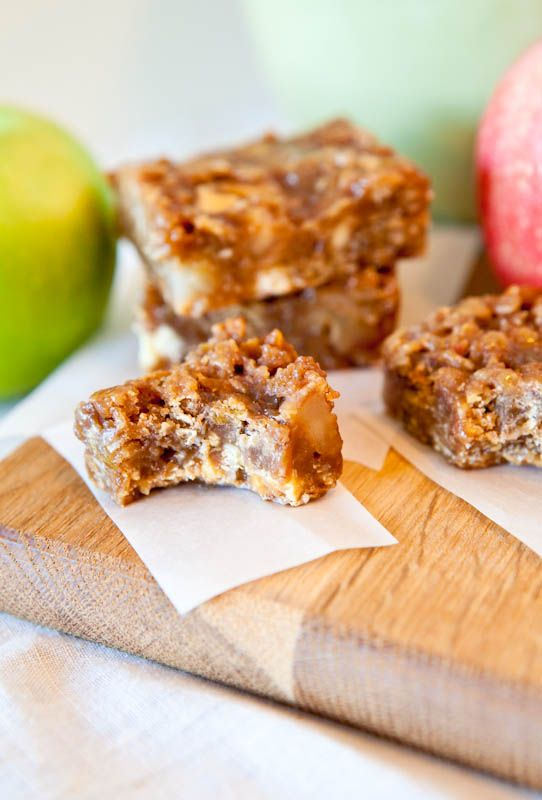 Caramel Apple Bars (with peanut butter and white chocolate chips!!)