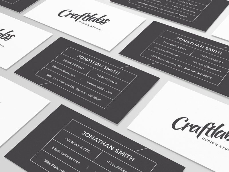 Simple Modern Business Card by nazdrag | Business Cards | Pinterest ...