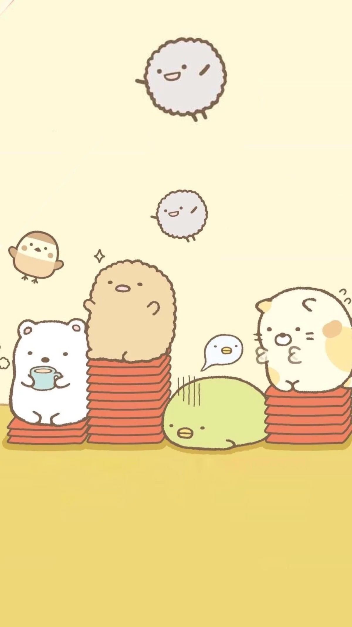 Sumikko gurashi phone wallpaper cute cartoons kawaii - Cute asian cartoon wallpaper ...