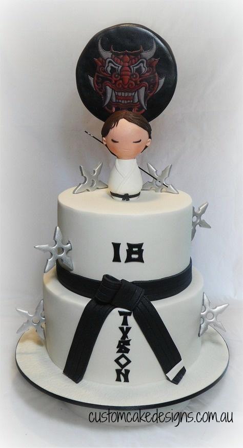 Cake Design Karate : Taekwondo Martial Arts Cake - Cake by Custom Cake Designs ...