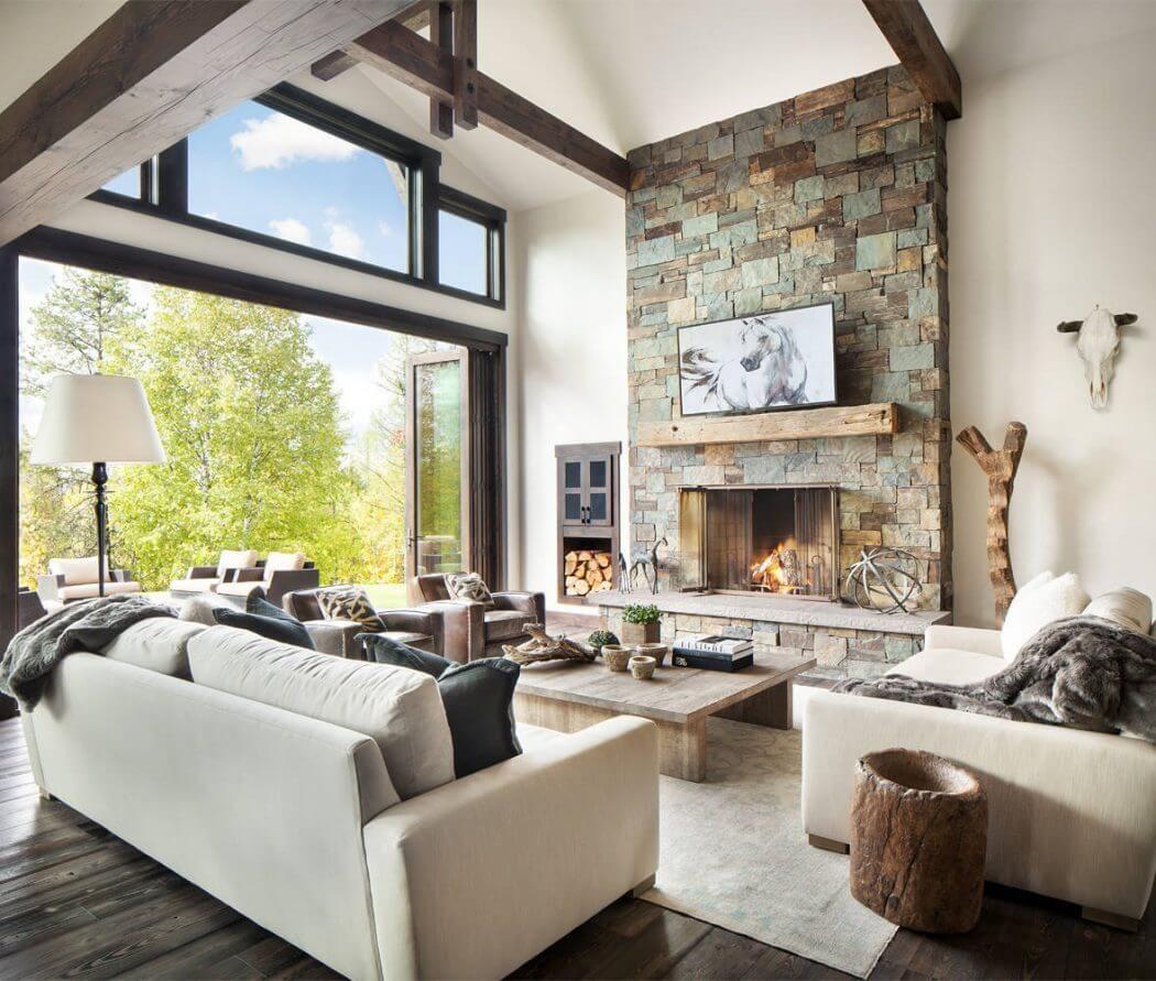 Whitefish Residence By Sage Interior Design Modern Rustic Living