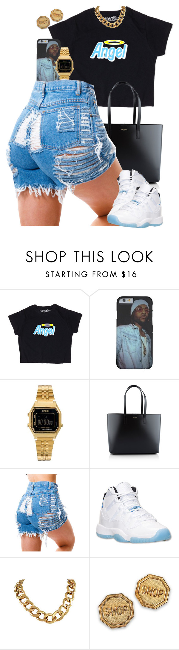 """Untitled #1582"" by power-beauty ❤ liked on Polyvore featuring Casio, Yves Saint Laurent, Retrò and Moschino"