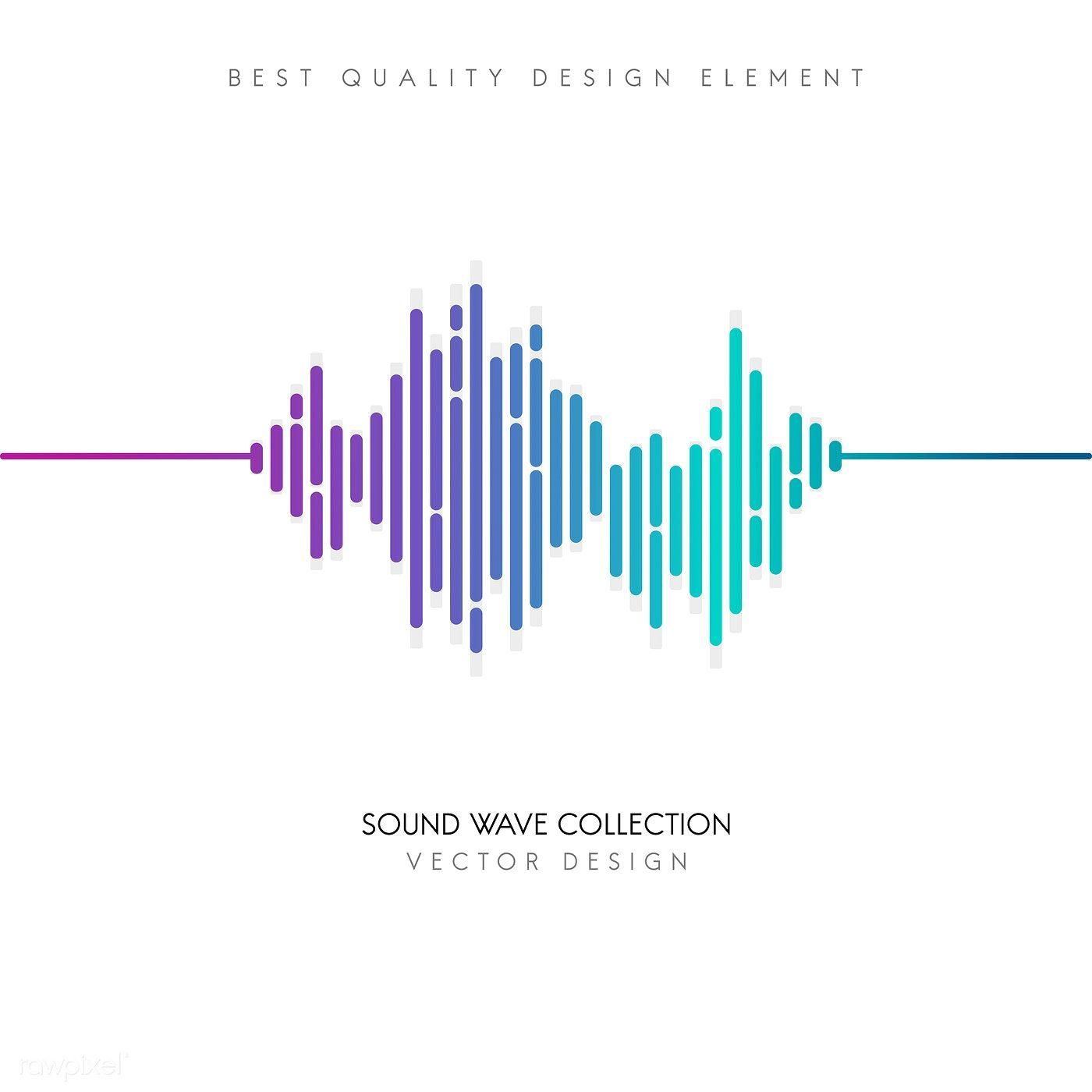 Sound Wave Equalizer Vector Design Free Image By Rawpixel Com Sound Waves Design Sound Waves Vector Design