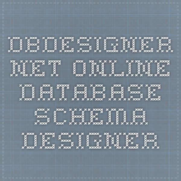 dbdesignernet online database schema designer - Online Db Schema