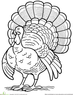 First Grade Holidays Seasons Worksheets Turkey Coloring Page Turkey Coloring Pages Thanksgiving Coloring Pages Fall Coloring Pages