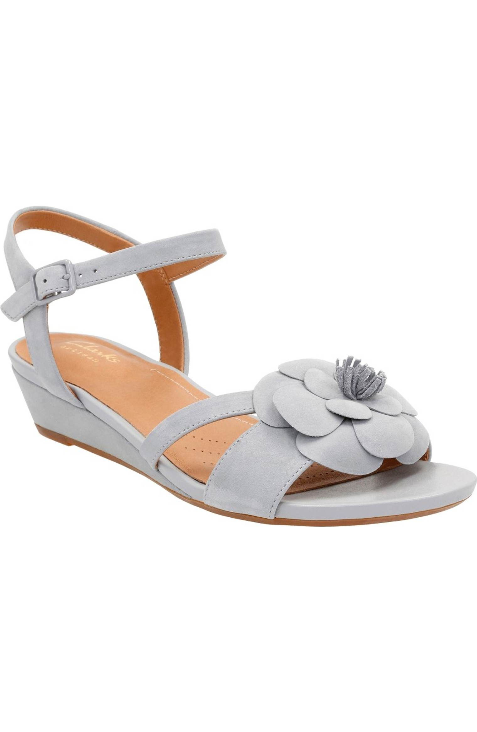 be3a5f7728fd Main Image - Clarks® Parram Stella Flower Wedge Sandal (Women)