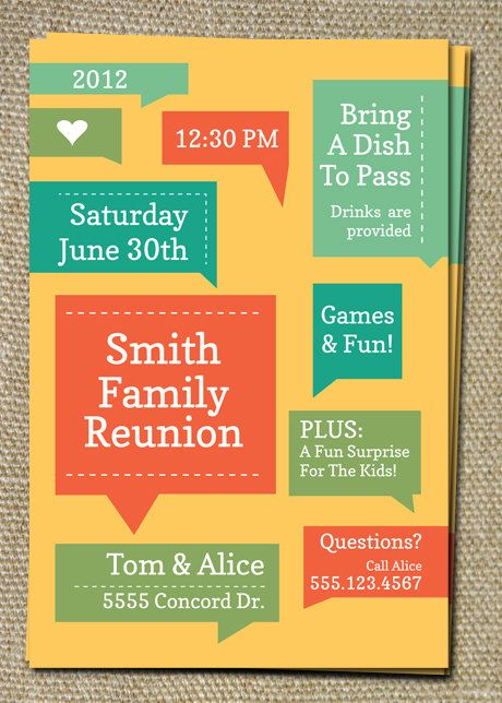 Family reunion invitations - Come on, it even already says Smith - best of invitation reunion template