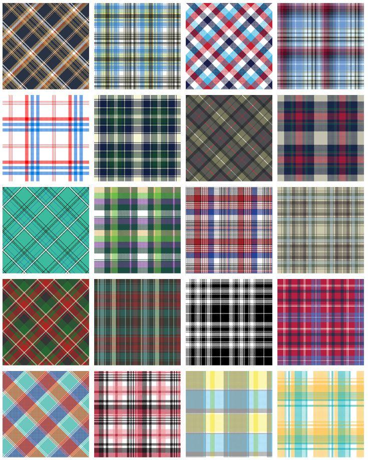 Tartan plaid wallpaper patterns. Scottish fashion tartan