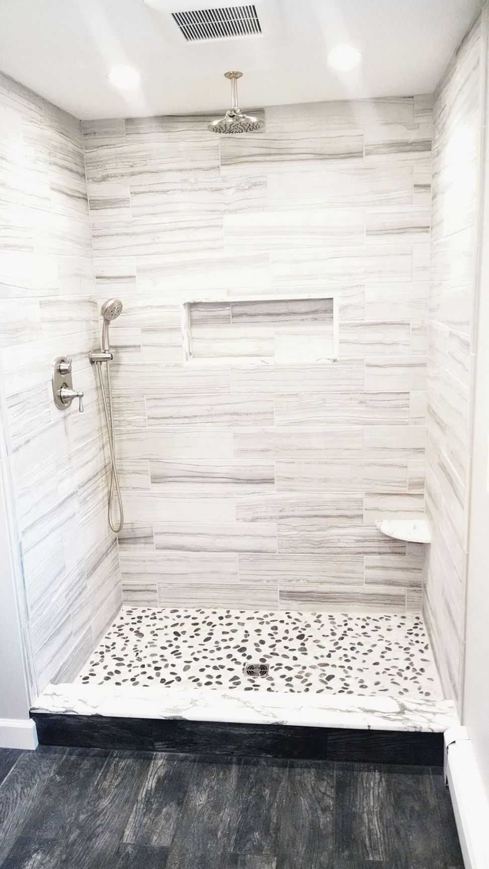40 Pebble Tile Bathroom Ideas 31 | Tile | Pinterest | Pebble tiles ...
