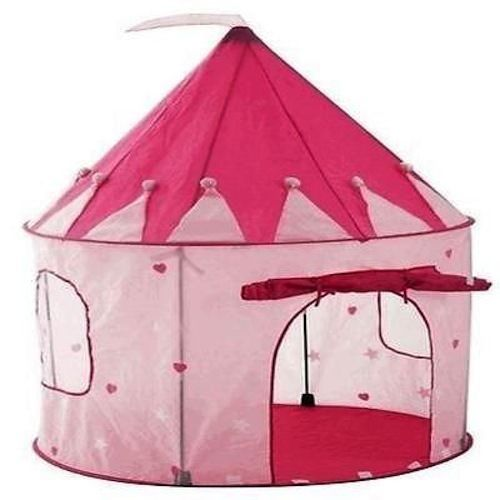 Girl's Pink Princess Castle Playhouse Fold-up Play Tent Indoor/Outdoor
