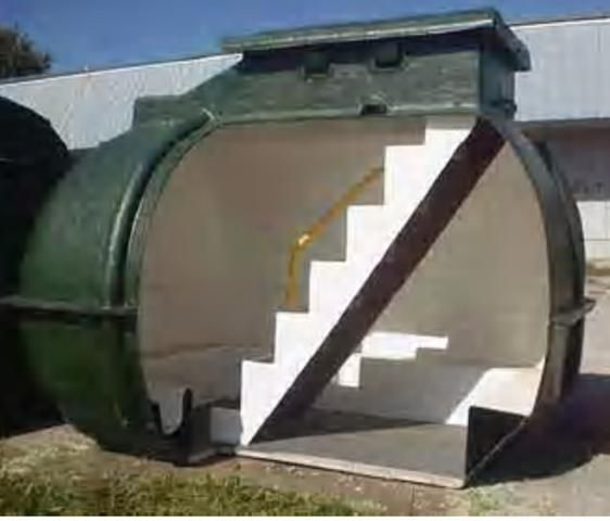 Homemade Underground Tornado Shelters | Pre-made 10-person tornado shelter from /www.stormsheltersonline.com