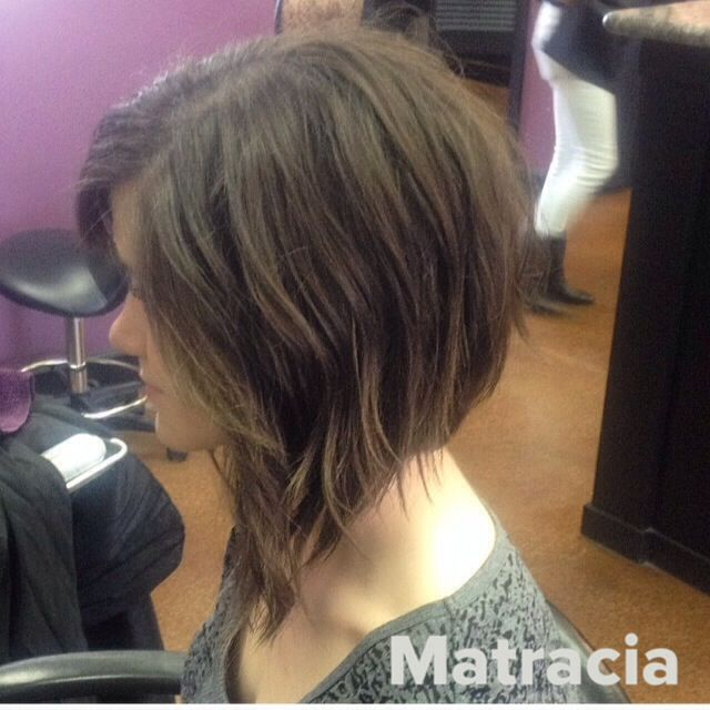 Extreme Layered A Line Bob Hair Styles Thick Hair Styles Bob Hairstyles