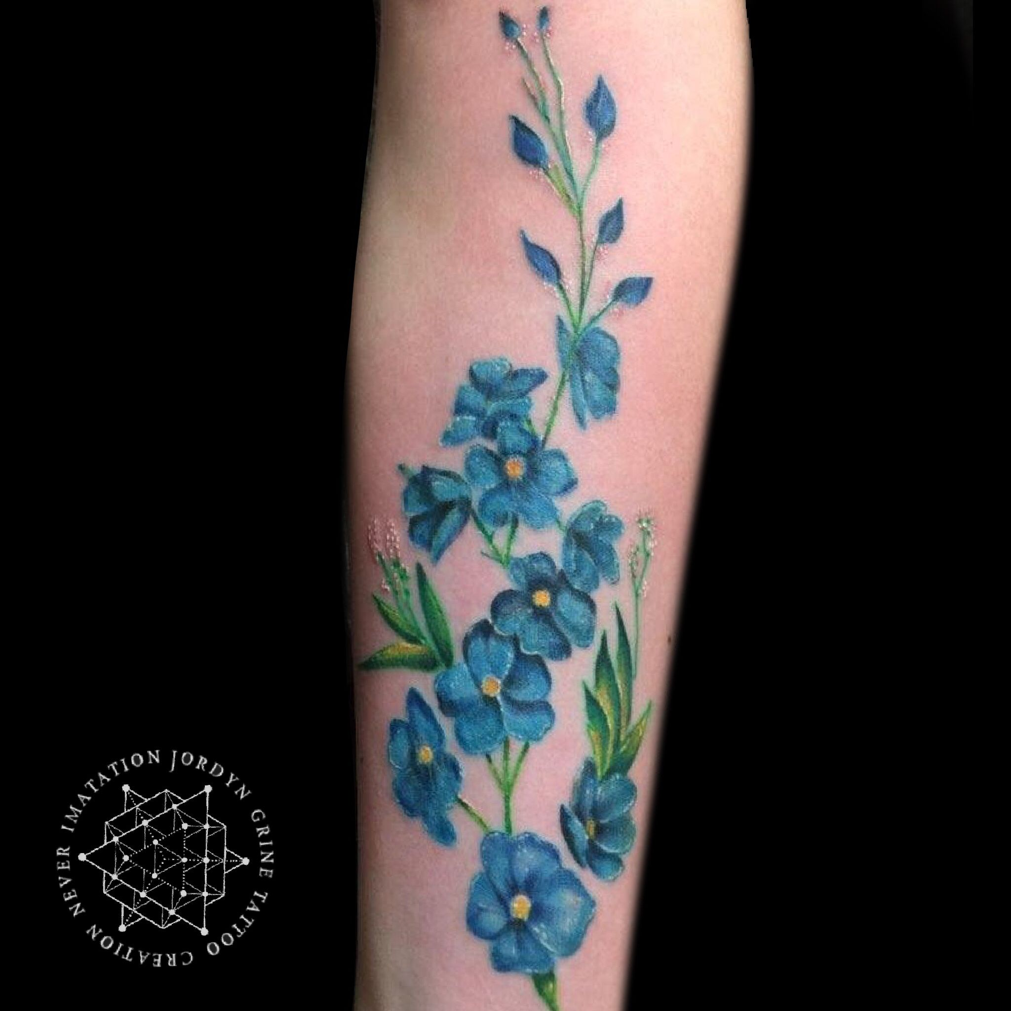 Beautiful color realistic me not tattoo done by