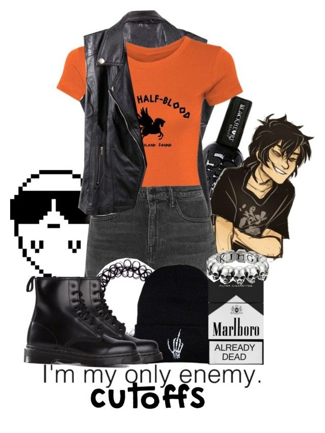 """""""""""I'm my only enemy."""" ~ Daughter of Hades"""" by drinkdionysus ❤ liked on Polyvore featuring Alexander Wang, King Baby Studio, Dr. Martens, jeanshorts, denimshorts and cutoffs"""