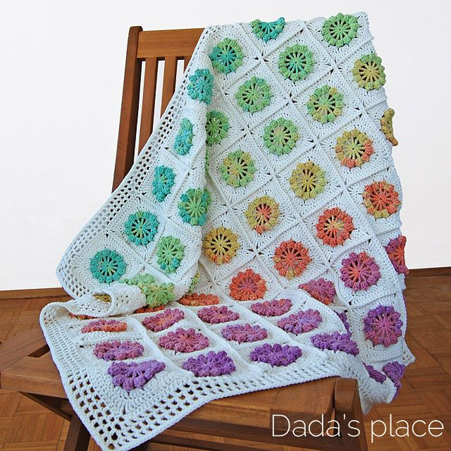 Free Crochet Baby Blanket Pattern | Grannies | Pinterest | Mantas de ...