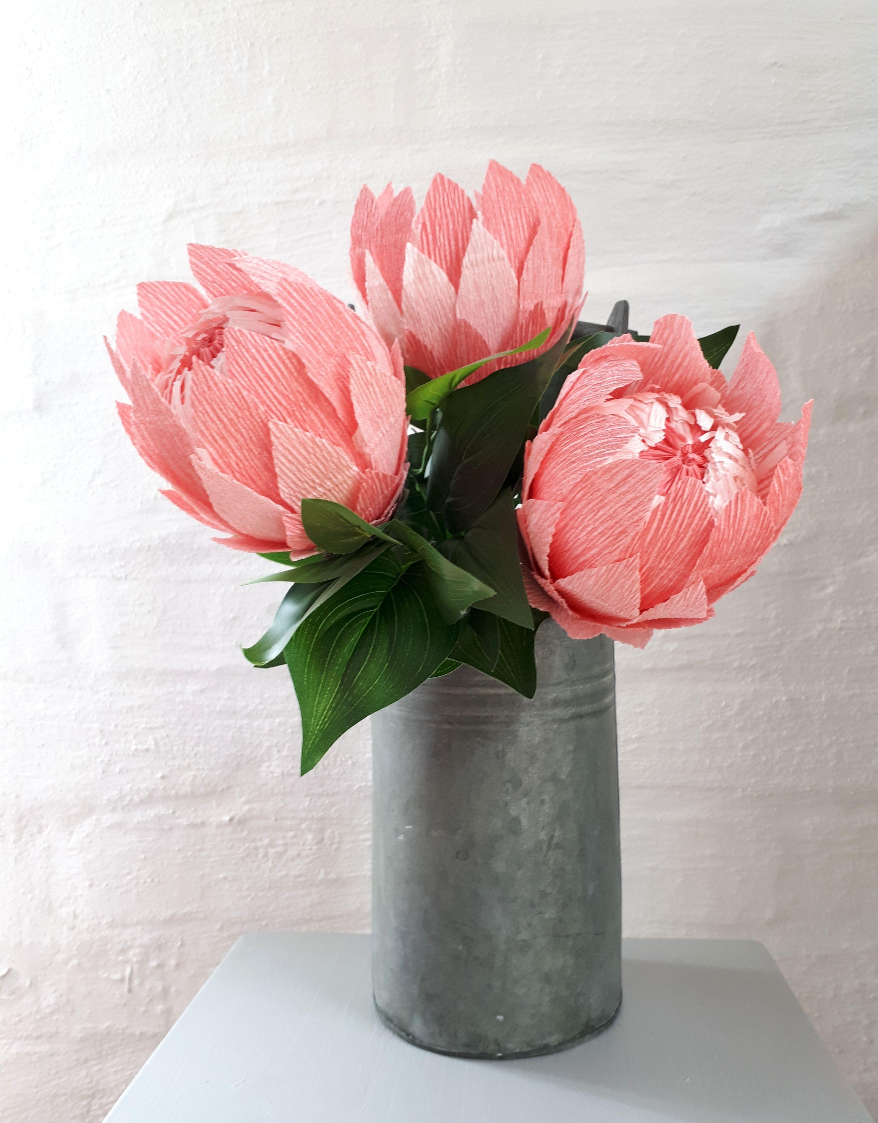 Crepe Paper Proteas Crepe Paper Flowers Pinterest Crepe Paper