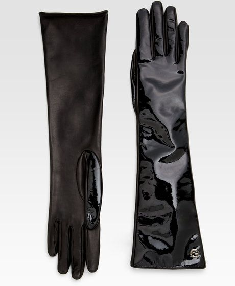 42335bd2 Women's Black Patent Leather Gloves | accessories - scarves, gloves ...
