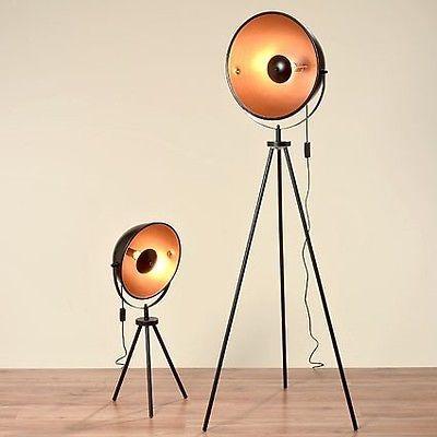 Stehleuchte Elias schwarz Stehlampe Studiolampe Tripod